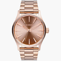 Nixon Sentry Ss Watch Gold One Size For Men 25974562101