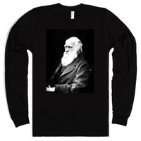 Charles Darwin | The Wighte Collection-Unisex Black T-Shirt