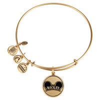 Disney Alex and Ani Parks Mickey Ear Charm Bangle Bracelet Gold New With Tags
