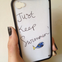 Just Keep Swimming Case iPhone 44s support by BluWatermelonDesigns