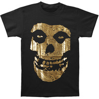 Misfits Men's  Gold Foil Fiend Logo T-shirt Black Rockabilia