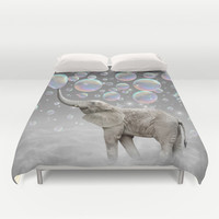 The Simple Things Are the Most Extraordinary (Elephant-Size Dreams) Duvet Cover by Soaring Anchor Designs