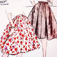 Vogue 1960 Skirt Pattern Misses Waist 24  Vintage Sewing Pattern