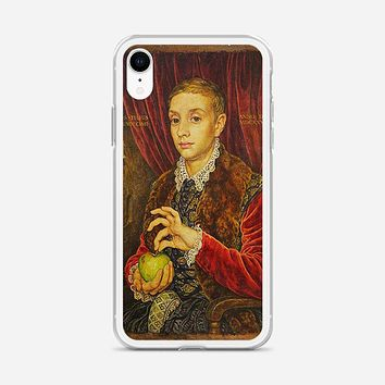 Boy With Apple Grand Budapest Hotel iPhone XR Case