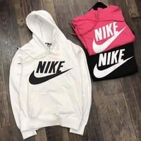 Nike Fashion Women Hooded Top Pullover Sweater  Sweatshirt