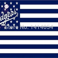 Los Angeles  Dodgers  US stars Stripes Flag  MLB  3X5FT Banner 100D Polyester grommets custom, free shipping