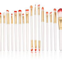Pro 20Pc Makeup Brush Set--Different Colors--Powder Foundation,Eye Shadow, Eyeliner, Lip Brush Tool
