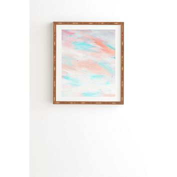 Allyson Johnson Coral Abstract Framed Wall Art
