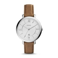 Jacqueline Leather Watch | Fossil