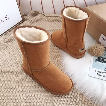 UGG Fashion Plush leather boots boots in tube Boots-1