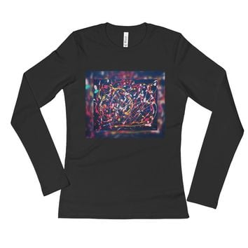 Pink Constellation Ladies' Long Sleeve T-Shirt