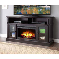 """Walmart: Barston Laminated Wood Fireplace for TVs up to 70"""", Espresso"""