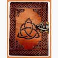 Triquetra Latched Leather Journal