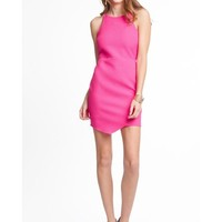 Sleeveless Dress w/Envelope Hem, Fuchsia