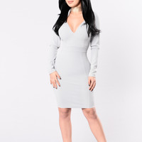 Love Games Dress - Grey