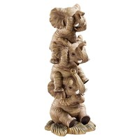 SheilaShrubs.com: The Hear-No, See-No, Speak-No Evil Elephants NG33769 by Design Toscano: Garden Sculptures & Statues