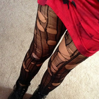 Ripped to shreds rocker tights made to order