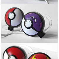 Double Pokephones Headphones by ketchupize