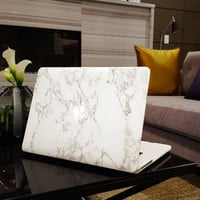 "Marble MacBook Air 13"" Case Cover, Novo Rubberized Hard Shell"