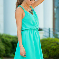 All Strapped In Dress, Teal