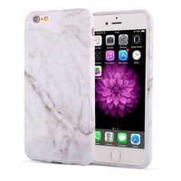 Soft Silicone Marble Look Phone Cases For iPhone 7/6/6s/Plus/SE/5/5s