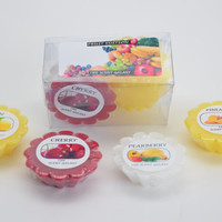 Scented candle wax tart Pineapple, cherry, Lemon and pearberry fragrance variety pack of 4  for Aromatherapy