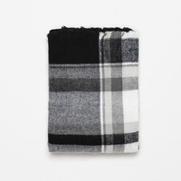 CHECKED AND STRIPED SCARF