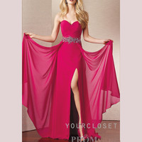 Sweetheart elegant beading chiffon floor-length dress from Your Closet