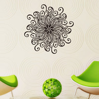Flower Mandalas Wall Stickers India Home Decor Vinyl Strong Adhesive Wall Decals For Living Room