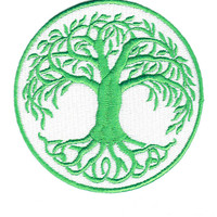 Tree of Life Patch 100% Embroidered and Iron On 9cm
