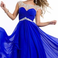 Beaded Chiffon Gown by Party Time