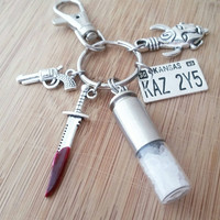 Supernatural keychain | Rock salt bullet