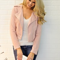 * Alvie Suede Jacket : Pink