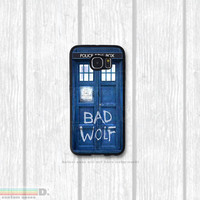 Dr. Who Bad Wolf Tardis, Custom Phone Case for Galaxy S4, S5, S6