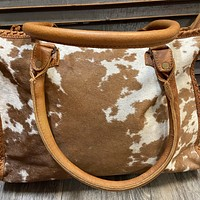 Cowhide Conceal Carry Tote Purse