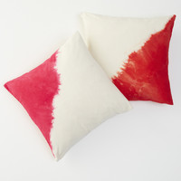 diagonal dip throw pillow