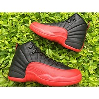 "Air Jordan 12 ""Flu Game"" black/red  Basketball Shoes 36-47"