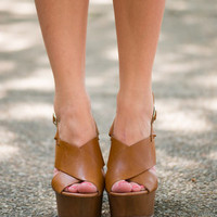 The Empowered Love Wedge, Tan