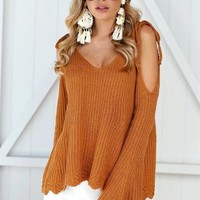 Knit Tops Sweater Winter Strapless Strong Character Jacket [13535215642]