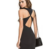 Black Sleeveless Bodycon Mini Dress