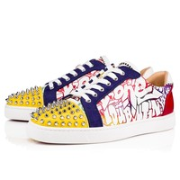Christian Louboutin Cl 19s Seavaste Spikes Flat Calf Wallgraf Version Multi Sneakers - Best Online Sale