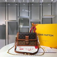 LV Louis Vuitton MONOGRAM CANVAS DAUPHINE INCLINED SHOULDER BAG