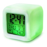 7 Colour Changing Backlit Modern Digital Alarm Clock and Thermometer