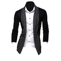 jeansian Men's Slim Fit Long Sleeves Casual Shirts Cardigans Sweater 8820