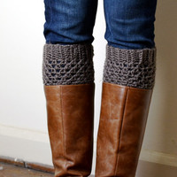 Crochet Boot Cuffs in Barley
