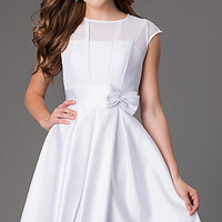 Knee Length Cap Sleeve Dress