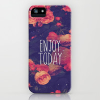 Enjoy Today iPhone & iPod Case by Pink Berry Pattern