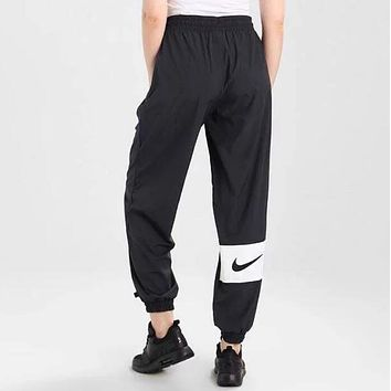 Nike New Popular Women Personality Print Drawstring Elastic Waistband Sport Stretch Pants Trousers Sweatpants I13195-1