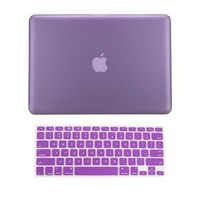 TopCase 2 in 1 Rubberized PURPLE Hard Case Cover and Keyboard Cover for Macbook Pro 13-inch (A1278/with or without Thunderbolt) with TopCase Mouse Pad