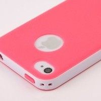 Amazon.com: Pandamimi Dexule Rose Red White Fashion Sweety Girls TPU , PC 2-Piece Style Hard Case Cover for iPhone 4 4S with Screen Protector: Cell Phones & Accessories